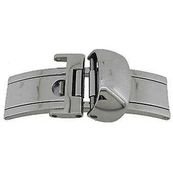 Authentic tissot watch strap deployment clasp 12mm stainless steel t640015862
