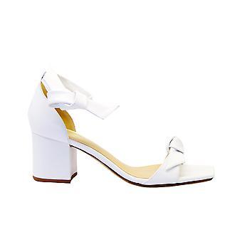 Alexandre Birman Claritasquarebloc Women's Valkoinen nahka sandaalit