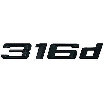 Matt Black BMW 316d Car Model Rear Boot Number Letter Sticker Decal Badge Emblem For 3 Series E36 E46 E90 E91 E92 E93 F30 F31 F34 G20