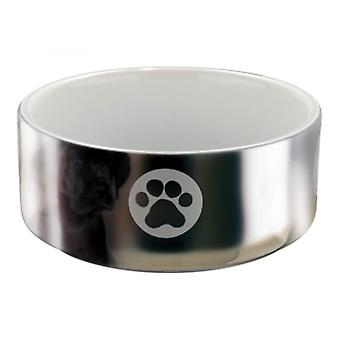 Trixie Feeder Ceramic Designs Silver-White (Dogs , Bowls, Feeders & Water Dispensers)