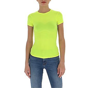Junya Watanabe Jet0050516 T-shirt en nylon jaune pour femmes;s