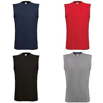 B&C Mens Exact Move Athletic Sleeveless Sports Vest Top