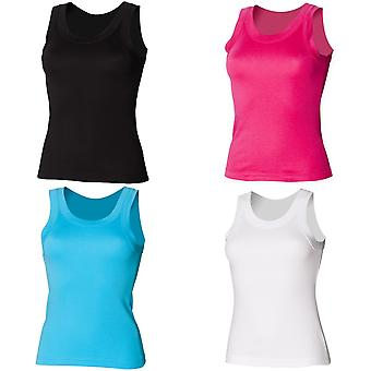 Skinni Fit Ladies/Womens Plain Tank / Vest Top