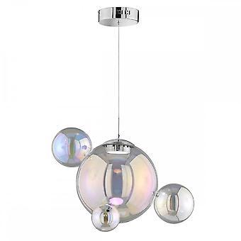 WOFI Mia Unique Led Ceiling Pendant Light With Iridescent Glass 6166.04.01.8000