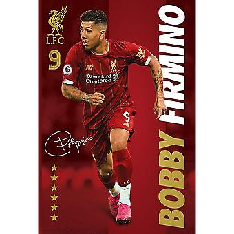 Liverpool FC Signature Firmino Poster
