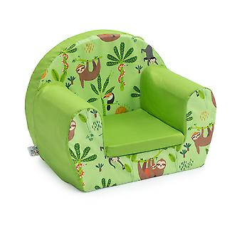 Poltrona Ready Steady Bed Children | Cadeira para sofá para crianças | Ótimo para sala de estar para crianças de brinquedo | Leve e Durável (Floresta Tropical)