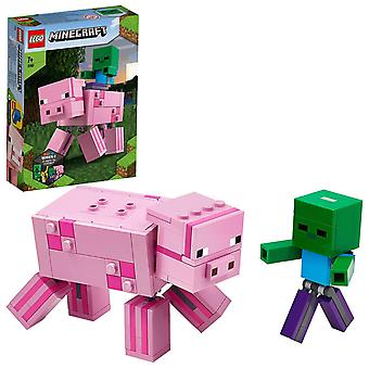 LEGO Minecraft - BigFig Schwein mit Zombiebaby