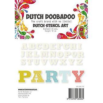 Dutch Doobadoo Dutch Stencil Art Alphabet 4 (120 mm) 470.990.112