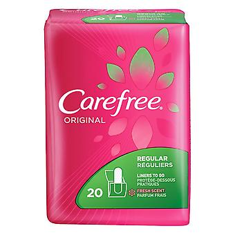 Carefree original liners to go, regular, fresh scent, 20 ea