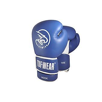 Tuf Wear Hook Leather Safety Spar Gloves Blue