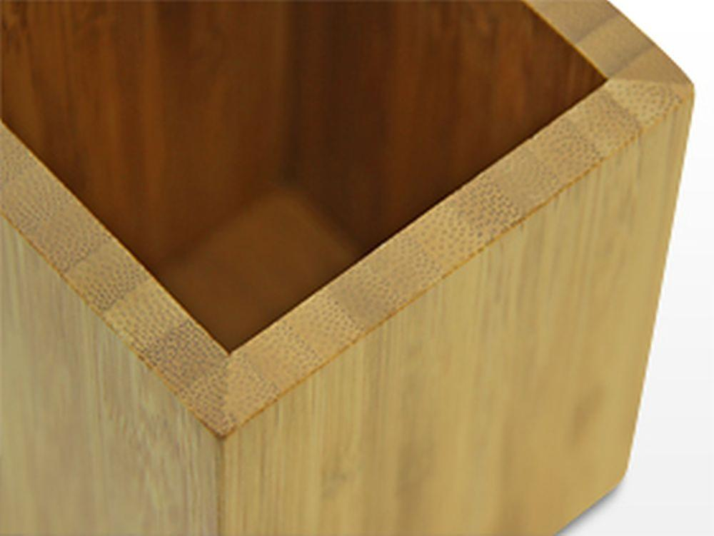 Woodquail Bamboo Pen Holder Pencil Box Cup