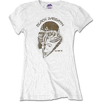 Ladies Black Sabbath White World Tour Official Tee T-Shirt