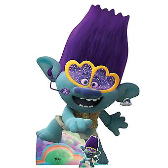 Branch Singing Official Trolls World Tour Lifesize Cardboard Cutout / Standee