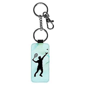 Badminton Silhouette Keychain