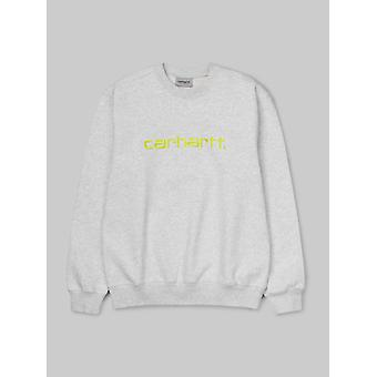 Carhartt WIP Carhartt Sweatshirt - Ash Heather / Lime