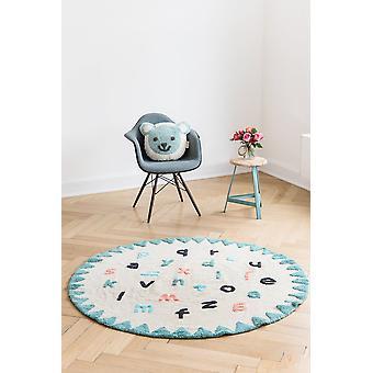 Round children's room carpet Alphabet diameter 150cm