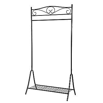 Classic metal clothes rack with carrying rod and legrooster