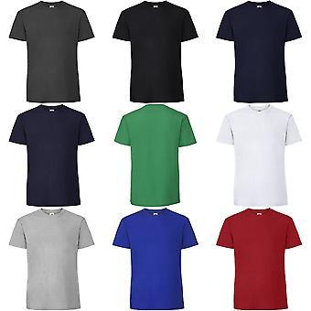Frukten av den vävstol Mens ringspunnen Premium Tshirt