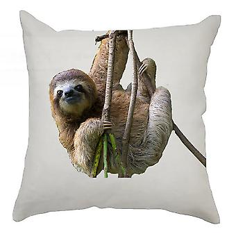 Sloth Cushion Cover 40cm x 40cm - Hanging Sloth