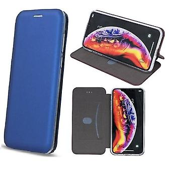 iPhone XS Max - Smart Diva Flip Case Mobil Lommebok - Navy