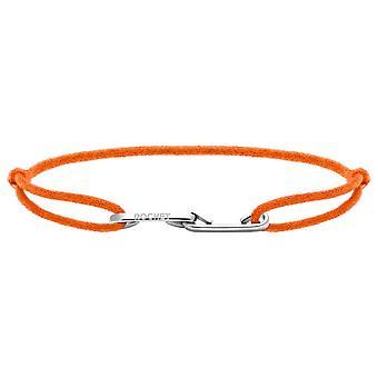Rochet B216059 pulsera - LOVE Acero con cordon Naranja Fluo R glable Mujeres