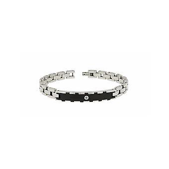 ZOPPINI Stainless Screw Black Bracelet