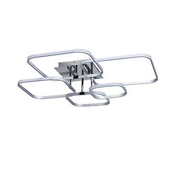 Techno 40 Cm Chrome Ceiling Light