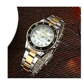 Genuine Deerfun Homage Watch Black White Gold Silver Date Top Quality Design