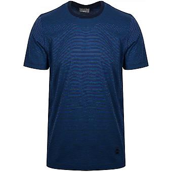 CC Collection Corneliani Navy Striped T-Shirt