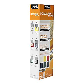 Pebeo Porcelaine 150 Ceramic Paint Initiation Set 6 x 20ml