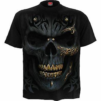 Spiral - svart guld - män's svart kortärmad t-shirt