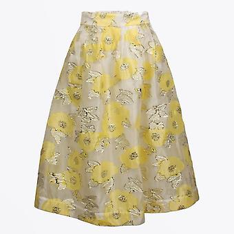 Baum Und Pferdgarten  - Satinka - Floral Skirt - Yellow