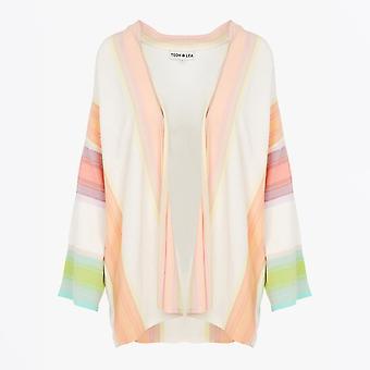 Teoh & Lea - Striped Knitted KImono - White