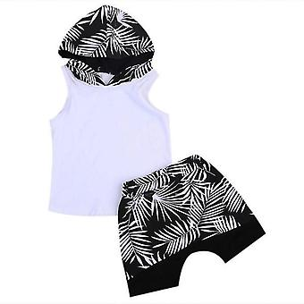 Summer Baby Boy Hoodie T-Shirt And Shorts Outfit
