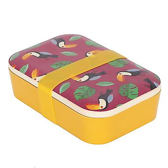 Something Different Childrens/Kids Eco Animals Toucan Bamboo Lunch Box