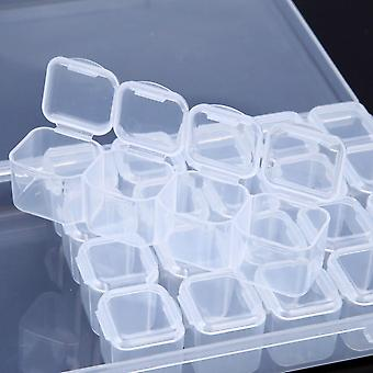Tomme Nail Organizer, Opbevaring Box - sag for Rhinestones legering dele