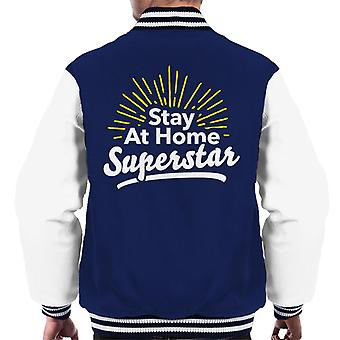 Stay At Home Superstar Men's Varsity Takki