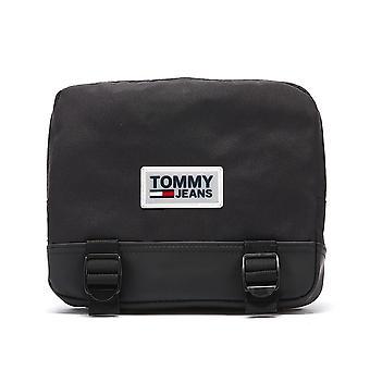 تومي جينز الحضري Varsity حقيبة الجسم الأسود