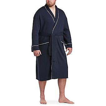 Essentials Men's Big & Tall Lightweight Shawl Robe Sleepwear, -Navy, X...