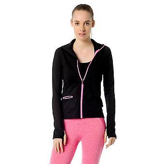 Jerf  Womens Ibiza Black Active Jacket
