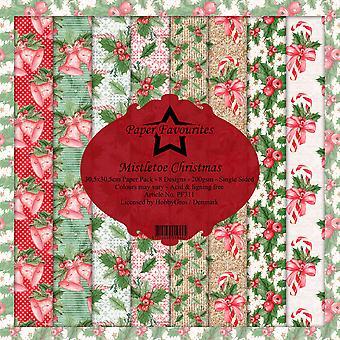 Dixi Craft Mistletoe Christmas 12x12 Inch Paper Pack