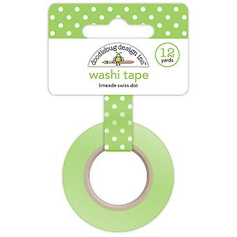 Doodlebug Design Limeade Swiss Dot Washi Tape