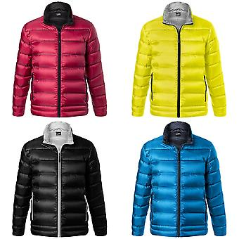 James and Nicholson Mens Quilted Down Jacket