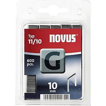 Flat wire staple G 11/10 (600 St) 600 pc(s) Novus 042-0386 Clip type 11/10 Dimensions (L x W) 10 mm x 10.6 mm