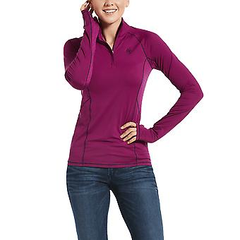 Ariat Lowell 2.0 Womens 1/4 Zip Long Sleeve Baselayer - Imperial Violet