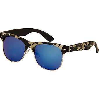 Sunglasses Unisex camouflage light green with mirror glass (AZB-24)