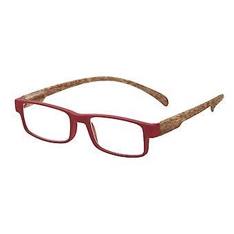 Lesebrille Unisex  Affe Holz rot/braun Stärke +2,50 (le-0179C)