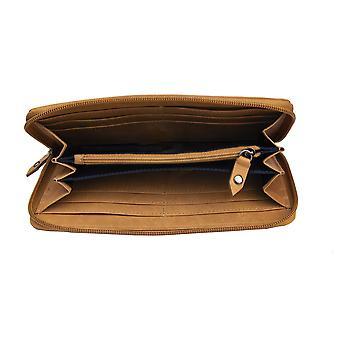 Primehide Womens Leather Purse Wallet RFID Blocking Zip Round Design Ladies 6265