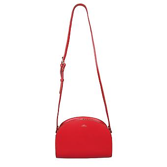 A.p.c. Pxawvf61048gab Women's Red Leather Shoulder Bag