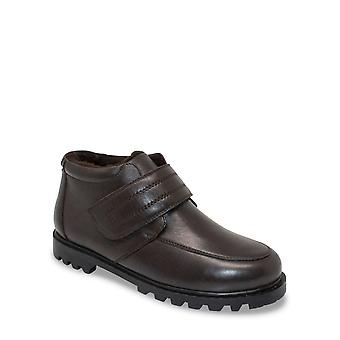 Chums Mens Leather Touch Fasten Boot Wide Fit